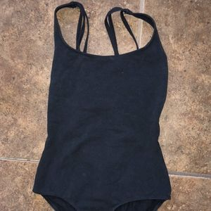 black ballet leotard